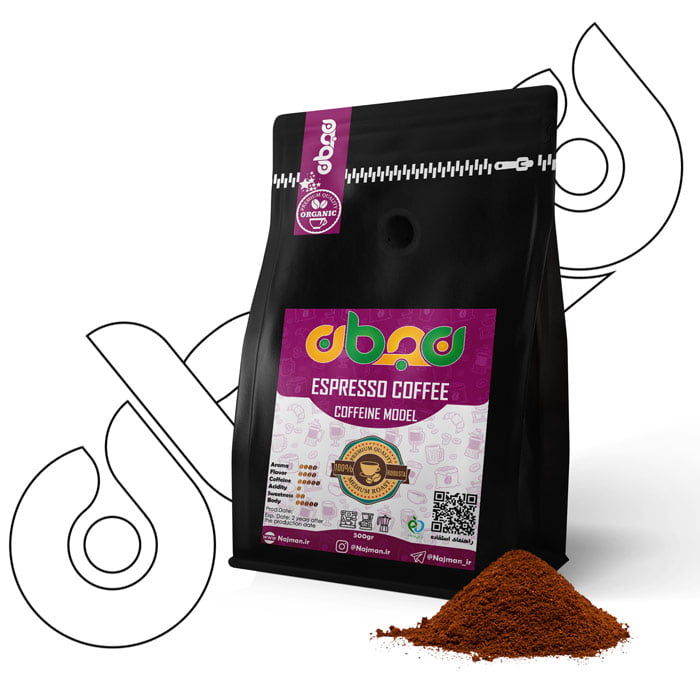 قهوه اسپرسو نجمان مدل کافئینه ۵۰۰گرمی